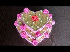 DIY   Heart shaped WeddingTray   Engagement ring platter   Best out of waste - YouTube