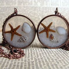 beach resin cast jewelry - Google Search