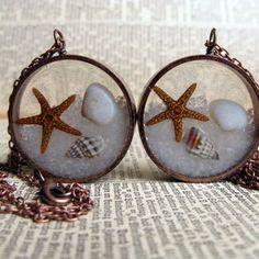 beach resin cast jewelry - Google Search