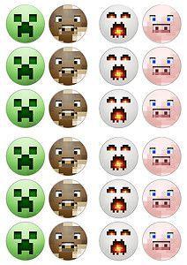 Free Printable Minecraft Cupcake Toppers cakepins.com
