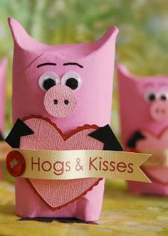 35 Valentines Day Crafts For Kids Valentines Day Activites For Kids Toilet Paper Piggies