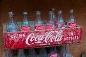 Vintage Coca-Cola Crate With Empty Bottles. Coca-Cola Was Invented.