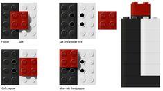 Lego salt and pepper shaker:  new house gift, maybe? :P