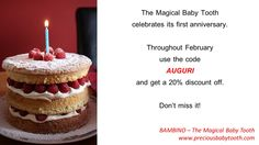 The Magical Baby Tooth celebrates its first anniversary! www.preciousbabytooth.com