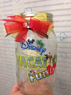 Walt Disney World Vacation Fund Jar on Etsy, $10.00