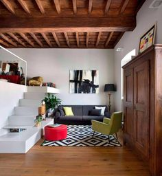 Modern meets traditional in this apartment located in a historic building in Paesana, Italy - CAANdesign | Architecture and home design blog