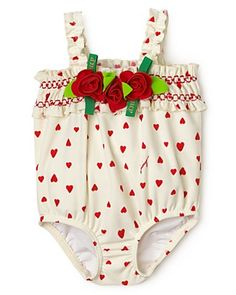 Juicy Couture Infants Girls' Heart Tiered Swim Suit~Sizes 3-24 months.  $68.00 ~Cheyenne.
