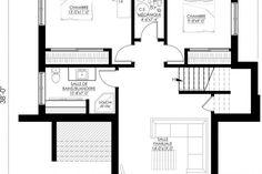 Plan de Maison Moderne Ë_140 | Leguë Architecture Best Investments, Architect Design, Architecture, Home Remodeling, House Plans, Floor Plans, House Design, How To Plan, Home Decor