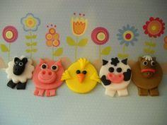 12 Barn Yard Friends   Edible Farm Animals by SugarArtByTami, $14.95