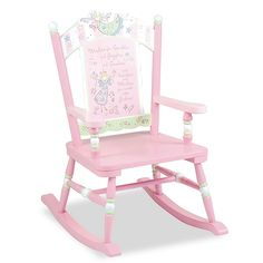 Your little one will love the soft colors and pretty fairies of the Fairy Wishes Rocking Chair from Wildkin. Perfect for a bedroom or playroom, this chair will be your favorite kid's special place to read, relax, and rock. Wooden Rocking Chairs, Childrens Rocking Chairs, Wooden Chairs, Herman Miller, Bar Chairs, Table And Chairs, High Chairs, Dining Chairs, Stools