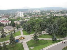 Pyatigorsk, Russia  Be still my heart!! I have had some of the best conversations sitting in this spot staring down at this park!