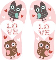Estampa para chinelo Love 001004 - Customize Transfer                                                                                                                                                                                 Mais