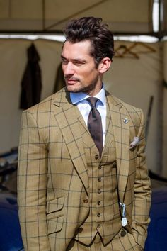 Prince of Wales Check 3 piece suit. Get this look for $999 #azrim.com.au