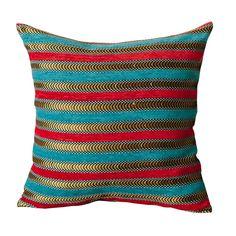 Red Southwestern Handmade Square Pillow Cover Sham Geometric Fleece 16 X 16