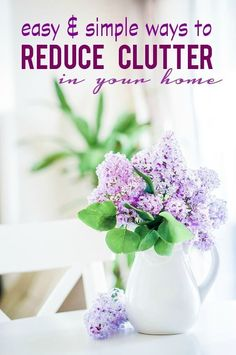 Easy and Simple Ways to Reduce Clutter in your Home! Spring Cleaning Tips!