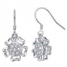Cercei argint http://www.bijuteriifrumoase.ro/cumpara/cercei-mireasa-cristale-zirconiu-3463