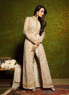 Vogue and pattern would be on the peak of your beauty as soon as you attire this Tan Brown Georgette Unstitched Pant Suit. The lovely Resham & Lace work a substantial attribute of this attire. Buy Online Exclusive Designer Pant Suit, Wedding Wear, Party Wear, Pantsuit, dress material, Ceremonial Wear, Pantsuits, Indian Suit, Suits, Shuits For women. We have large range of Designer Pantsuit designs Online in our website with the best pricing and unique designs shipping to World Wide.