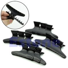 [Visit to Buy] 12Pcs Hairdressing Hairdressers Butterfly Hair Claw Salon Section Clip Clamps #Advertisement