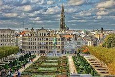 Bruxelles, Plaza, Ville, Belgique, Hdr
