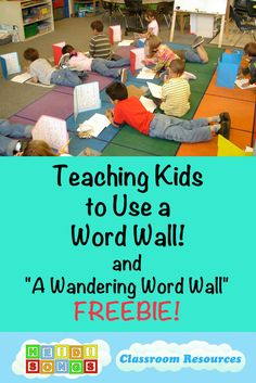 """Here is how to teach kids to use a word wall in kindergarten or first grade, PLUS a great writing tool called """"The Wandering Word Wall"""" included as a FREEBIE! 1st Grade Writing, Teaching Writing, Teaching Strategies, Kids Writing, Teaching French, Word Wall Kindergarten, Teaching Kindergarten, Teaching Kids, Portable Word Walls"""