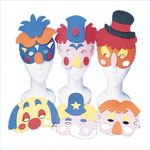 Clown Foam Masks-  makes for some great photo booth props!
