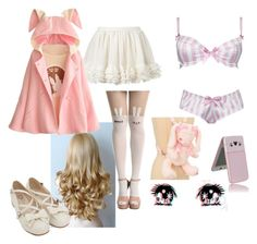 """""""Mirai Nikki OC"""" by super-kawaii-zoe ❤ liked on Polyvore featuring WithChic, Alexis Smith and Hello Kitty"""
