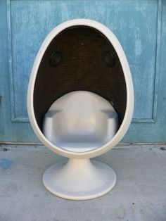 Vintage Starkey Egg Chair 1970's Dazed and Confused #Contemporary