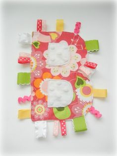 Personalized Taggies- such a cute gift idea for baby showers.