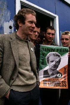 Magnum Photos NORTHERN IRELAND. Martin McGuiness campaigning in Derry. 1983.