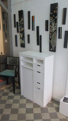Petit comptoir en carton pour expo et salons par SG Mobilier Carton