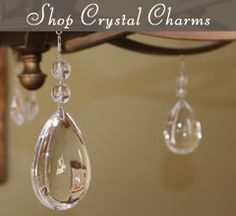 Diy magnetic crystals for chandeliers diy pinterest this site has charms and novelty ornaments that have magnets on thems to hood to any metal light fixture candle holder lamp fabulous love this place aloadofball Choice Image