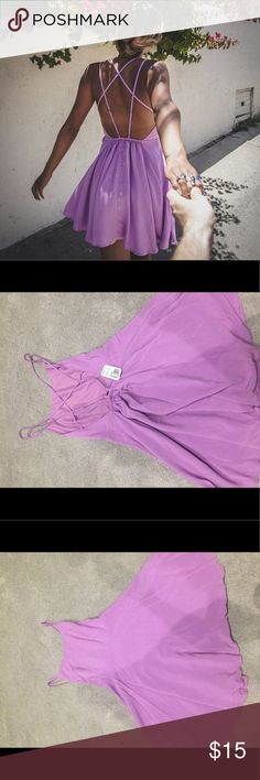 Backless dress NWT, light purple backless dress, never worn. Feel free to make an offer! Forever 21 Dresses
