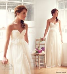 Beautiful. Sarah Seven wedding dresses. Elegant and stunning! O love this dress..........