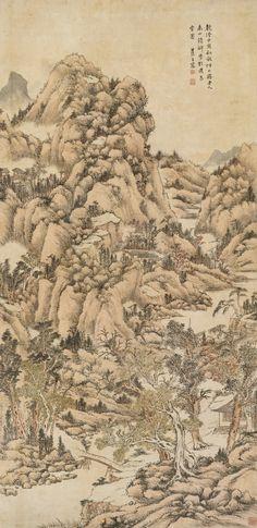 Landscape after Huang Gongwang, 1794, Wang Chen