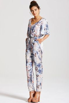 Girls on Film Pastel Floral Jumpsuit - Girls On Film from Little Mistress UK