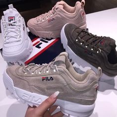 Fila, Shoes, And Fashion Moda Sneakers, Sneakers Mode, Sneakers Fashion, Fashion Shoes, Shoes Sneakers, Shoes Heels, Pumps, Nike Fashion, Ootd Fashion