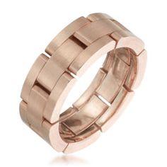 Furrer-Jacot - Les Magiques Rose Gold Men's Link Wedding Band