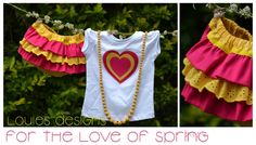 Spring, Louie's designs, muddy ruffles fabric addiction, cute outfit, ruffle bums