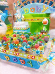 Barra de dulces Baby Shower. Manualidades originales