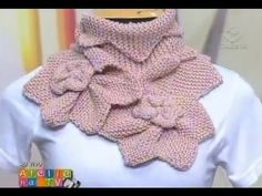 Vitoria Quintal - Gola Cetim em Tricô - YouTube Crochet Collar, Crochet Lace, Crochet Stitches, Knitting Videos, Crochet Videos, Knitted Shawls, Crochet Scarves, Knitwear Fashion, Lace Knitting