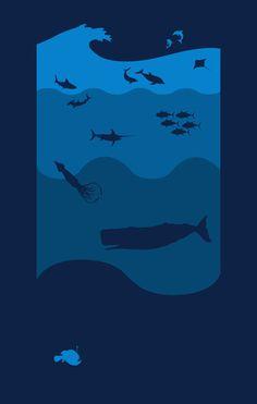 Oceans alive print. Art inspo.