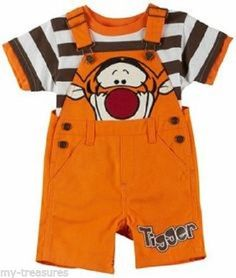7acc1c080 NEW Disney Baby Boy Mickey Pooh Tigger Shortall Shorts Set 12 18 24 mo Orig  $30 #Disney #Everyday
