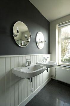 badkamer met lambrisering | inspiratie (t)huis | pinterest | interiors, Badkamer