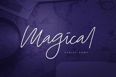 Magical Script by vuuuds on @creativemarket