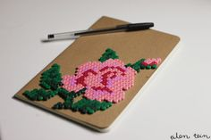 Notebook with beads