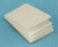 White Scratch Pad | Mary's Dollhouse Miniatures
