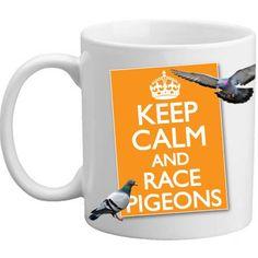 Freelogix Keep Calm And Race Pigeons Present Gift Mug - 11oz