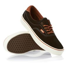 Vans Shoes - Vans Era 59 Shoes - Black/Leather Brown