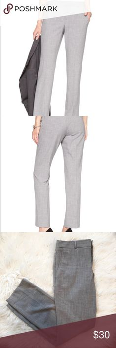 Banana Republic Factory Ryan Curvy Fit Pant Excellent Used Condition 😊 Worn once! Machine Washable professional pants in gray. Mid rise with a slim fit through the hip & thigh. Banana Republic Pants Trousers