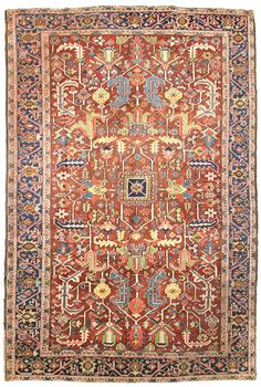Antique Heriz Rug    Hand-knotted in Persia  Circa 1925